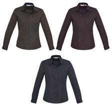 Career Long Sleeve Striped Tops & Blouses for Women