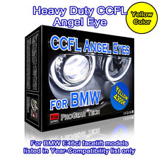 4300k OEM Yellow Heavy Duty BMW CCFL Angel Eyes Halo Rings E46 CI 04-06 Facelift