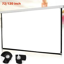 72/120 inch Projector Screen Home Theater HD 3D Pull-up Projection 16: 9