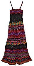S/M/L Indian RAYON KURTI BLUSA ETHNIC BOHO retro WOMEN gypsy sun dress HIPPY