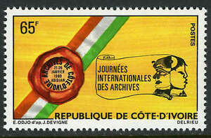 Ivory Coast 541, MI 633, MNH. Intl. Archives Day, 1980