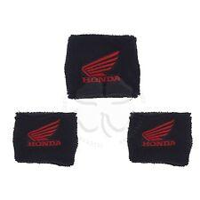 1 Large & 2 Small Black Honda Wing Brake & Clutch Reservoir Sock Cover CBR