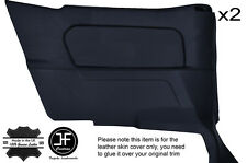 BLACK STITCH 2X REAR FULL DOOR CARD COVERS FITS BMW E30 84-93 CONVERTIBLE