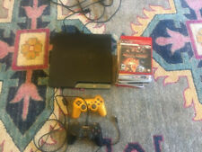 Sony PlayStation 3 Slim 160GB Black with 2 controllers and 11 games