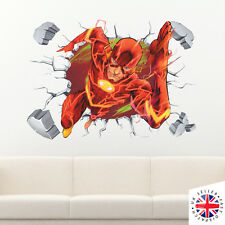 3D FLASH Wall Sticker Vinyl Art Home Bedroom DC Poster Justice League Batman