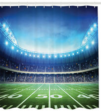 Football Stadium Sports Sport Them Kids Boys Fabric Shower Curtain