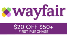 $20 off $50 Wayfair Coupon for NEW customers only **ship FAST**