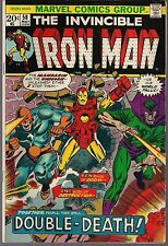 "INVINCIBLE IRON MAN #58 MARVEL 05/73 THE MANDARIN & UNICORN ""DOUBLE DEATH!"" FNVF"
