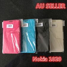 Black Nokia Lumia 1020 Slim Wallet Flip stand Horse Pattern Cover Case