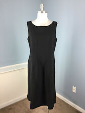POLO Ralph Lauren Black Wool Blend dress L A Line dress Career Cocktail EUC $398