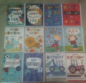 HAPPY BIRTHDAY CARD*FOR BOY*CHILD*MALE*CHOOSE DESIGN*SPORT*COLOURFUL*GREETING