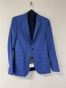 NWT Topman $195 Classic Sz:40R Super Skinny Blazer Suit Jacket Blue  N208