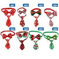 Cute Christmas Dog Cat Pet Puppy Bow knot Necktie Collar Bow Tie Clothes Set Cxz