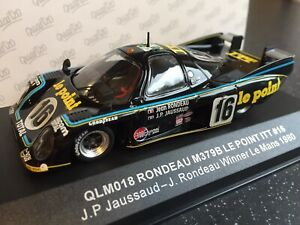 Quartzo Vitesse 1:43  QLM018 Rondeau M379B Le Point ITT #16 Le Mans Winner 1980