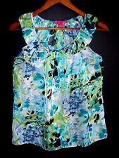 SUNNY LEIGH SIZE M WOMEN'S SUMMER SLEEVELESS TOP  BLOUSE MULTI COLOR FLORAL NEW!