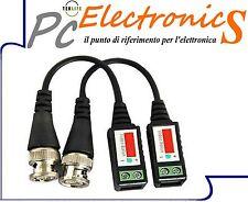 2 Adattatori Video Balun CCTV con INESTO A VITE con cavo UTP/FTP per Telecamere