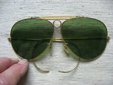 Bausch & Lomb Ray Ban vintage aviatar / shooter sunglasses gold green