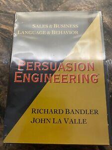 Persuasion Engineering Richard Bandler John La Valle DVD set New and Sealed NLP