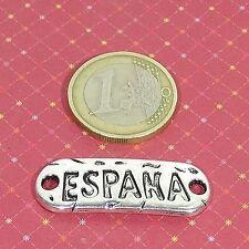 9 Chapas Para Pulsera 35x12mm T555C Plata Tibetana Bracelet Beads Plate España
