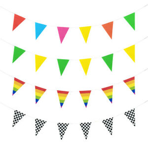 Pennant Bunting Triangle Flag Banner Party Wedding Decorations
