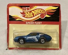 1980's Mattel Hot Wheels Leo India Speed Fleet Chevy Monza 2+2 No. 7671 Blue MOC