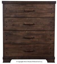 Sweet Dreams Chopin Gershwin Mozart 4 Drawer Chunky Wooden Chest in Brown