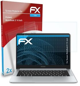 atFoliX 2x Screen Protector for Huawei MateBook D 14 inch clear