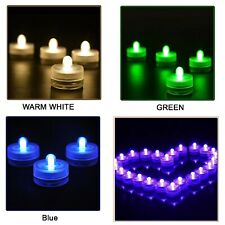 Battery Operated LED Waterproof Submersible Tea Light Wedding Party Event Decor