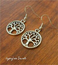 Tree of Life Family Earrings Gypsy Spiritual Silver925 Hooks & Gift Bag Silver ♡