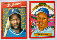 1990 DONRUSS BO JACKSON CARDS LOT (2) MVP BC-1 & DIAMOND KINGS #1