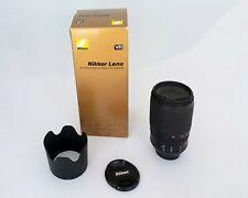 Nikon ED AF-S Nikkor 70-300mm 1:4.5-5.6G VR FX Excellent Condition-Hood-Box-Caps