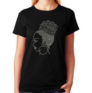"Women's / Unisex Rhinestone T-shirt "" Latina Woman "" in Sm - 3XL"