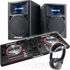 Numark Mixtrack Pro 3 DJ Midi Controller with Numark N-Wave 360 Monitor Speakers