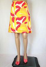H&M Womens Casual Business Office Multicolour Knee A-Line Skirt sz S EU34 AP94