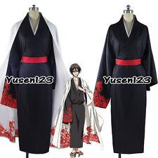 SERVAMP Tsubaki Vampire Black Cosplay Clothing Halloween Costume Full Set Kimono