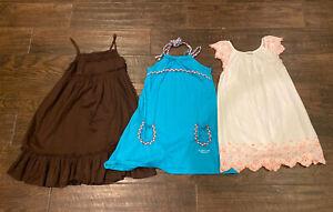 girls summer dresses size 7/8 Cherokee Lot Of 3