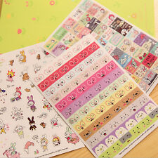 6 Sheet ! Cartoon DIY Calendar Diary Book Sticker Scrapbook Decoration PlannerCV