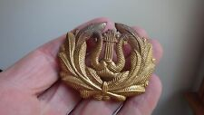 VINTAGE WW11 MILITARY MUSICIAN HAT BADGE US ARMY  CORPS DRUM AND BUGLE  BX C #14