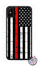 Red Thin Line of Courage Firefighter Phone Case For iPhone i11 Samsung LG Google