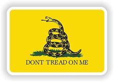 Amarillo No Tread On Me de Gadsden Bandera pegatina de vinilo calcomanía Libertad o Muerte Serpiente
