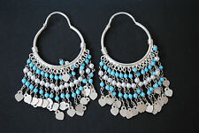 PLATA esterilina Pendientes con turquesa y perlas