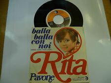 """RITA PAVONE""""BALLA BALLA CON NOI- disco 45 giri RICORDI italy 1969"""""""