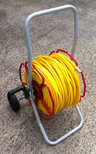 READY TO USE 8mm Microbore Reel Trolley With 100mtr hose and Rectus 21 Coupling