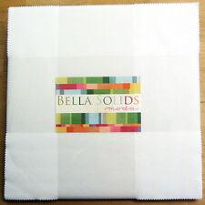 """Bella Solids WHITE Layer Cake, Moda Precut 10"""" Squares, Cotton Quilting Fabric"""