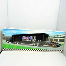 """1994 Osterman's Mobil 14"""" Toy Race Car Carrier with Race Car Collector Edition"""