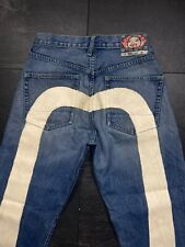 evisu vintage pants Japan jeans denim big logo embroidered rare selvedge