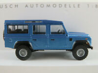 "Busch 50352 Land Rover Defender 110 ""Metallica"" (1983) in blau 1:87/H0 NEU/OVP"