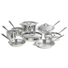 All-Clad Copper Core 14-Piece Cookware Set Stainless Steel Handcrafted Oven-Safe