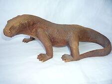 """Fine en bois sculpté Lizard Figurine Statue - 11.75"""" (L)"""