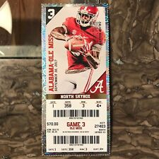2017 Alabama vs Ole Miss Ticket Stub CALVIN RIDLEY 09/30/2017 NM+ 358 3 4